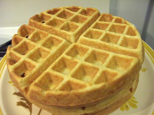 Crispy, buttery, rosemary waffle