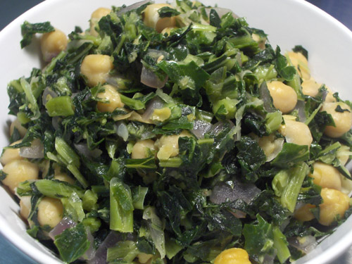 Collard greens with chickpeas