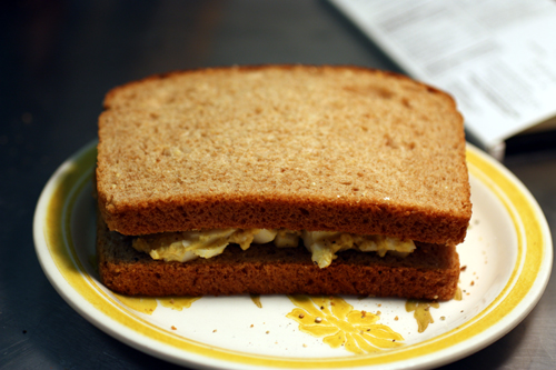 You'd never know this sandwich holds as much excitement as it does.