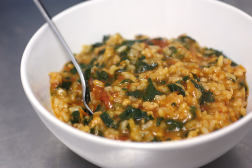 Tomato and Sausage risotto a la Smitten Kitchen and Martha Stewart